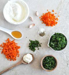 Spinach and Kale Greek Yogurt Dip I howsweeteats.com