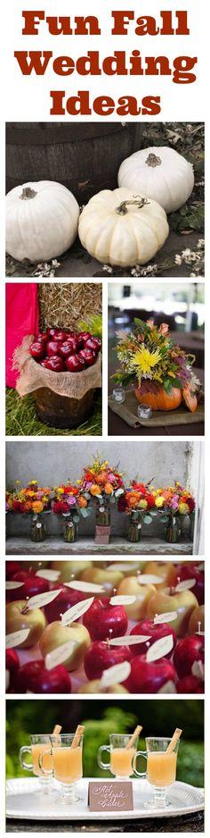 Fun Fall Wedding Ideas