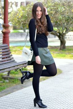 32 Popular Fall Outfits Every Girl Should Have - Fashion New Trends : 32 Popular Fall Outfits Every Girl Should Have outfit fashion casualoutfit fashiontrends Pantyhose Outfits, Fashion Tights, Tights Outfit, Fall Outfits, Casual Outfits, Cute Outfits, Modest Fashion, Fashion Outfits, Womens Fashion