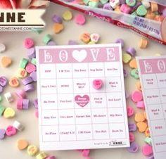 Conversation Heart B-I-N-G-O [Free Valentine Bingo Printable] My Funny Valentine, Valentine Bingo, Valentines Games, Valentines Day Party, Valentines For Kids, Valentine Day Crafts, Holiday Crafts, Holiday Fun, Printable Valentine
