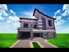Modern house render minecraft