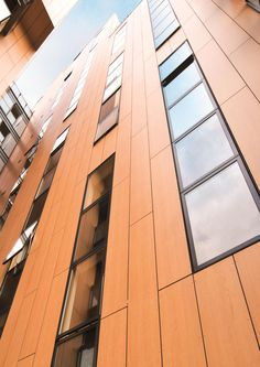 Reducing the risk from fire is an increasingly important issue in the building industry. The new advanced features of the FS-Xtra grade from ROCKPANEL bring a fresh dimension to facade cladding design; Cladding Design, Facade, Stairs, Building, Wood, Inspiration, Home Decor, Biblical Inspiration, Stairway