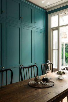 peacock color cabinets   More kitchen love - desire to inspire - desiretoinspire.net