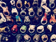 Porcelain Animal Rings by Nach
