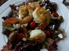 Jumbo Prawn Salad at Carretta On The Gulf, Sandpearl Resort. #ClwbTasteFest #ClwbRestaurantWeek