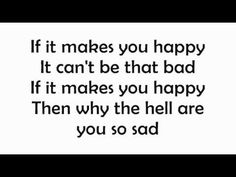 Sheryl Crow - If It Makes You Happy with Lyrics on screen