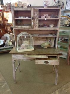 Primitive Shabby Chic Farm Table with Hutch ON SALE - $380