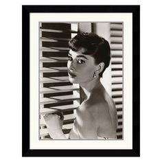 {Audrey Hepburn, rramed print} gorgeous shadow-play; I think this photo was taken during Sabrina