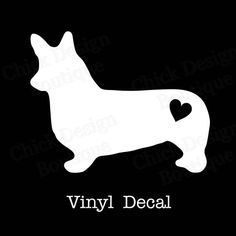 Welsh Corgi Silhouette Vinyl Decal by ChickDesignBoutique on Etsy