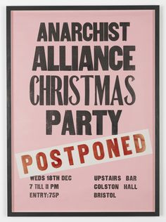 Anarchist Alliance Christmas Party (Postponed)