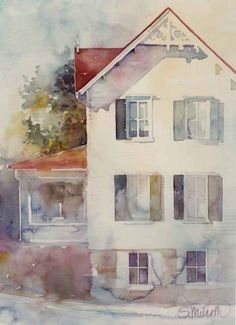 Watercolor painting by Susan Melrath I would love a painting of my dream house.