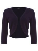 Womens *Roman Originals Navy Plain Bolero- Blue