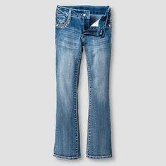 Girls' Jeans Medium Vintage Denim Wash 6X, Blue