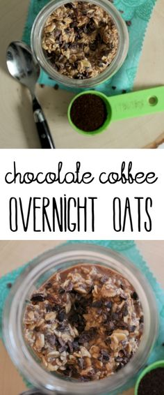Whip up these Chocolate Coffee Overnight Oats for an energizing breakfast sure to start your day off on the right foot! | Lean, Clean, & Brie