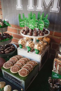 Sweets + snacks from a Tailgate Football Birthday Party via Kara's Party Ideas | KarasPartyIdeas.com | The place for all things Party! (44)