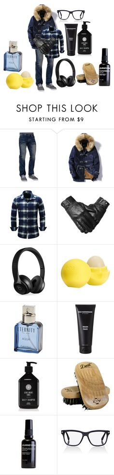 """""""Here and Now."""" by anikivance ❤ liked on Polyvore featuring Affliction, Beats by Dr. Dre, Eos, Calvin Klein, Bad Norwegian, Gentlemen's Tonic, Detroit Grooming Co., Journeymen, Tom Ford and men's fashion"""