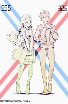 Mitsuru x Kokoro - Darling in the FranXX #GG #anime