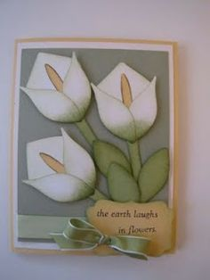 Bitz  Bites Scrapin: Calla Lilly  Tulip Punch Art Flower Card