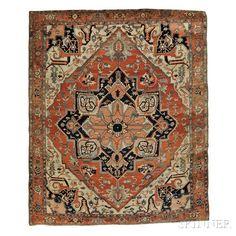 Serapi Carpet   Sale Number 2884B, Lot Number 177   Skinner Auctioneers