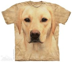 Yellow Lab Portrait T-Shirt at theBIGzoo.com, a toy store with over 12,000 products.
