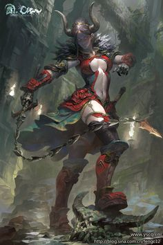 Female demon succubus by Feng Wei | NOT OUR ART - Please click artwork for source | WRITING INSPIRATION for Dungeons and Dragons DND Pathfinder PFRPG Warhammer 40k Star Wars Shadowrun Call of Cthulhu and other d20 roleplaying fantasy science fiction scifi horror location equipment monster character game design | Create your own RPG Books w/ www.rpgbard.com