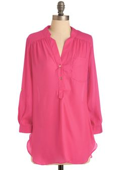 Pam Breeze-ly Tunic in hot pink.