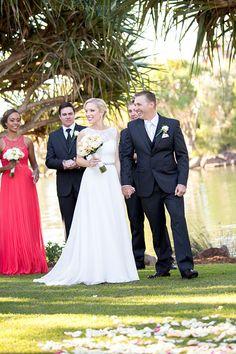 Wedding ceremony at Novotel Twin Waters Resort. www.lanicarter.com