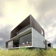 (Viz) Cliff House / Auhaus Architektur Haus … - Architektur Architecture Design, Minimal Architecture, Modern Architecture House, Modern House Design, Architecture Interiors, Landscape Architecture, Brighton Houses, Casas Containers, Cliff House