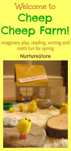Fun idea that brings some great imaginary play to Easter / spring kids activities. Pretend play, math games and reading and writing added in too.