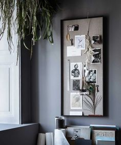 Apr 2020 - Scenery Pinboard by Ferm Living Memo Boards, Inspiration Wand, Console, Home Office Accessories, Black Stains, Blog Deco, Color Swatches, Wall Spaces, Furniture Styles