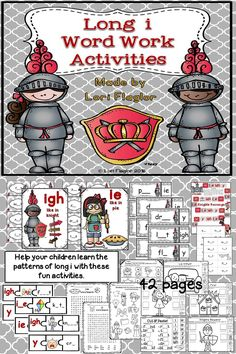42 pages of Long i spelling patterns. Wow, your kiddos will love it!