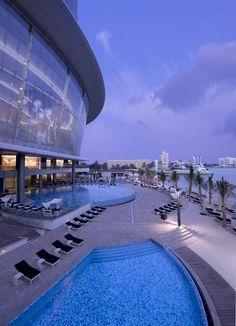 Jumeirah at Etihad Towers Hotle, Abu Dhabi - Family Holidays - Swimming Pool - Aerial View