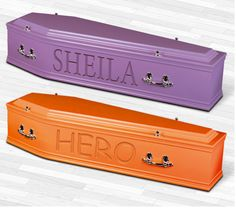 Choose a favourite Colour for the ultimate in personal farewells with an #Artiste coffin or casket. #Hero #Champ #Angel #pink #Red  #coffins #caskets #uk