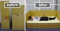 Boxes Into Beds: Brilliant Idea Helps Earthquake Victims In Japan | Bored Panda