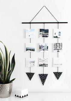 Marre de la déco classique avec des photos? Voici quelques idées très créatives pour la photos décoration intéressante de l'intérieur: