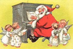 Santa playing the piano