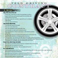 Before your children get behind the wheel, have them sign iMOM's Teenage Driving Contract.