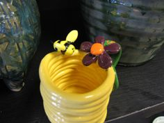 Clay flower Coil Pot