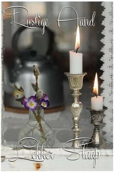 Good Night Blessings, Goeie Nag, Quotes For Whatsapp, Candle Holders, Blessed, Candles, Afrikaans, Good Night Wishes, Candlesticks