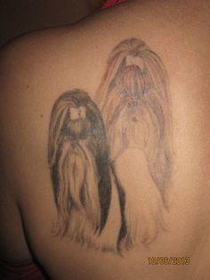 back tattoo shih tzu
