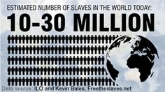 27 Million Slaves today...the highest in history. Look what's being done to end it.  $3,066,000 was given by 45,000 18-25 year olds in the last 4 days.  (www.268generation.com)