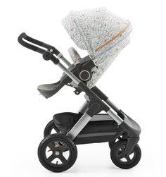@Stokkebaby Stroller Seat Style Kit Grid - how fantastic is this sleek style and fun print?! #babygear