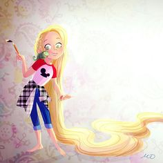 Teen Princess rapunzel! I am doing a bit of fan art…something I don't often do! Look out for more teen princesses coming soon! Let me know if you have a fav!