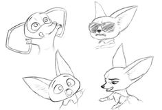 Finnick's sketch He is one of character in Zootopia