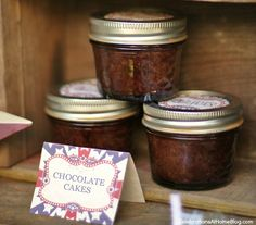 molten lava cakes in a jar - microwavable, need to be used within a week (have to put the wet batter in the jar)