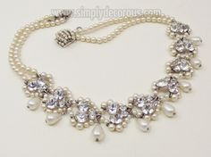 Louis Rosselet Glass Pearl and French Paste Necklace
