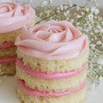 "Thumbnail image for Mini Coconut Raspberry Valentine's Day ""Naked"" Rosette Cakes"