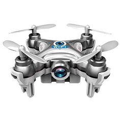 Hotkey 4CH 2.4GHz iOS / Android APP Wifi Romote Control RC FPV Real Time Video Mini Quadcopter Helicopter Drone UFO with 0.3MP HD Camera, 6 Axis Gyro - Silver - http://www.midronepro.com/producto/hotkey-4ch-2-4ghz-ios-android-app-wifi-romote-control-rc-fpv-real-time-video-mini-quadcopter-helicopter-drone-ufo-with-0-3mp-hd-camera-6-axis-gyro-silver/