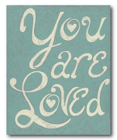 Look what I found on #zulily! 'You Are Loved' Wrapped Canvas #zulilyfinds