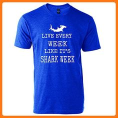 Live Every Week Like It's Shark Week T-Shirt Funny Graphic (Large, Heather royal with white design) (*Partner Link)